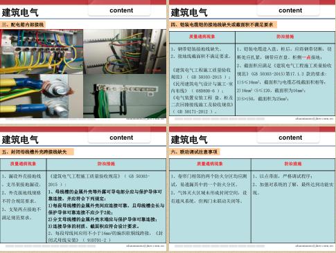 上海建科,机电,质量通病,上海建科-机电安装工程常见质量问题与分析,共50页