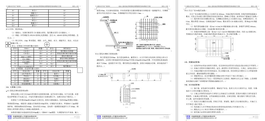 万达广场,中建二局,大体积混凝土施工方案,综合体专项方案,综合体方案,综合体施工方案,综合体施工组织设计,90万平方米大型综合体施组方案及全套专项施工方案-可编辑-含配套图表-中建二局