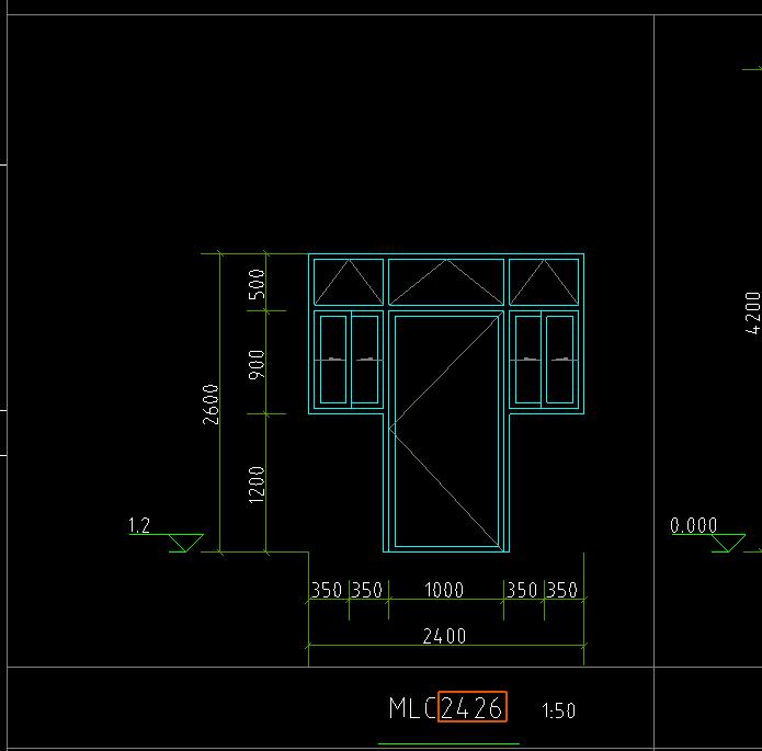 土建,广东,答疑:这种有两个窗的门联窗如何绘制-广东土建,