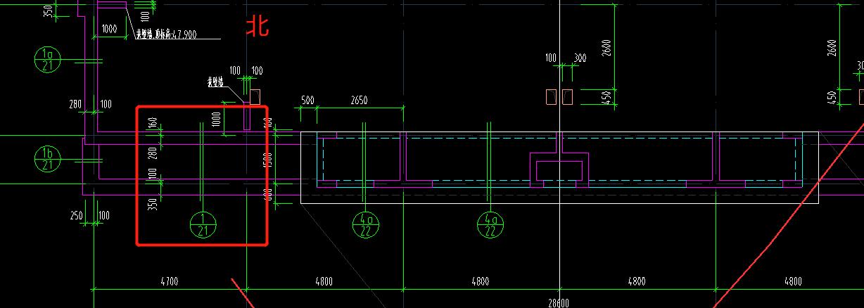 北京,土建,土建算量GCL2013,施工,答疑:请教下图中屋顶机房中的结构图,该符号是从什么方向到什么方向看这个剖的图呢,谢谢!-北京土建,施工,土建算量GCL2013,