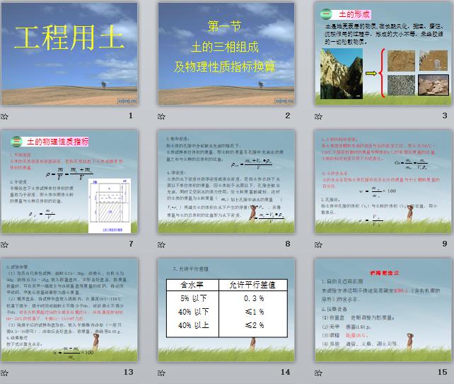 道路工程之用土试验、内容讲义PPT、工程用土、,道路工程之用土试验内容讲义,79页PPT可下载