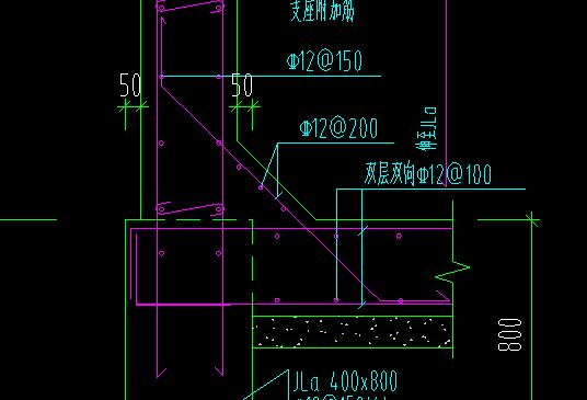 土建,广东,答疑:这种剪力墙与板相交的斜筋和混凝土应该如何输入?-广东土建,