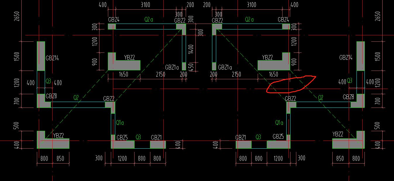 土建,土建计量GTJ,广东,答疑:这个绿线表示的该怎么理解-广东土建,土建计量GTJ,