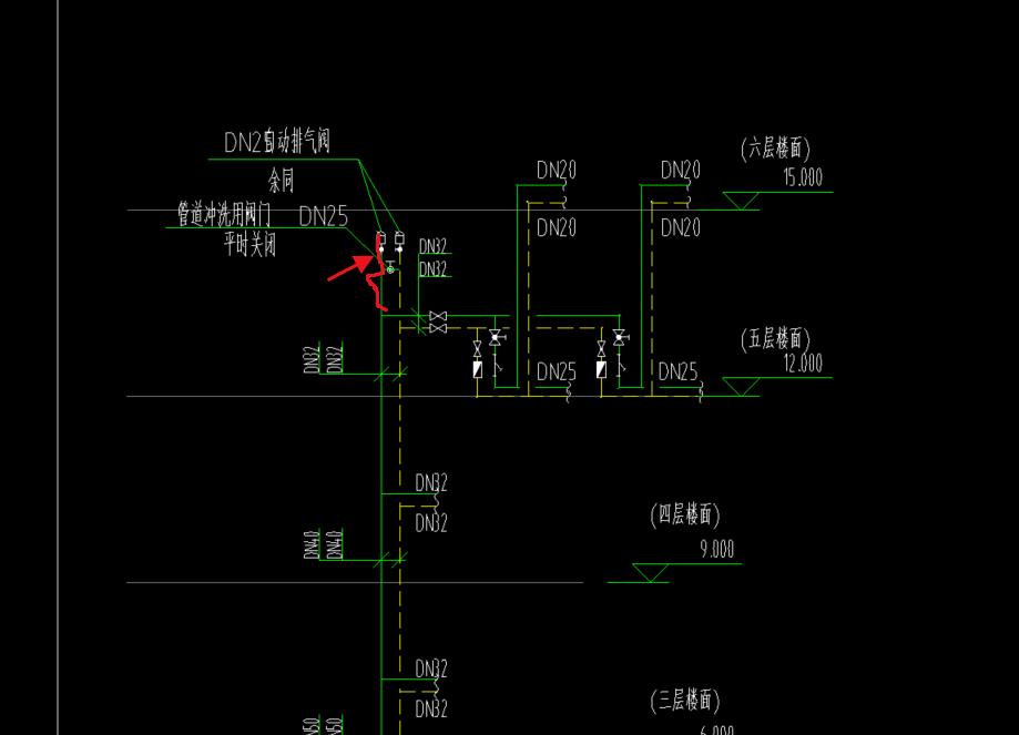 安装,安装算量GQI,山东,施工,机电,答疑:采暖自动排气阀一般距顶板多少?距地多少?这段管道一般多长?谢谢。-山东安装,机电,施工,安装算量GQI,