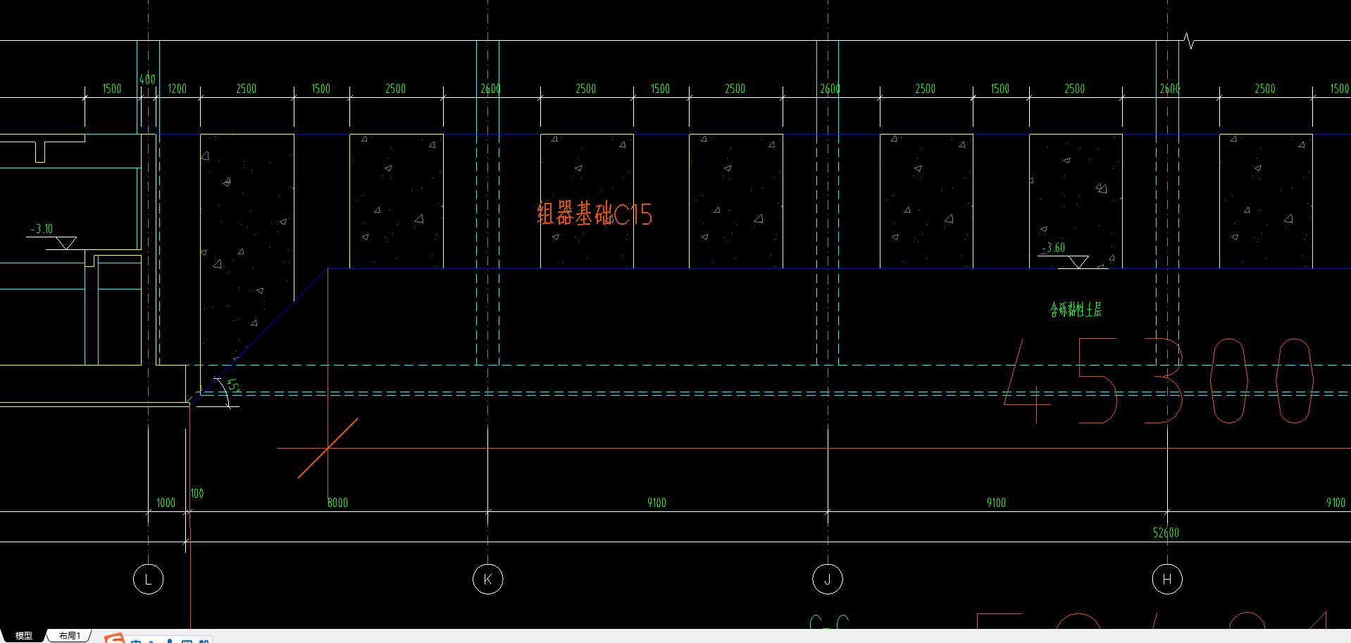 土建,广西壮族自治区,答疑:截图这个组器基础用软件如何布置?-广西壮族自治区土建,