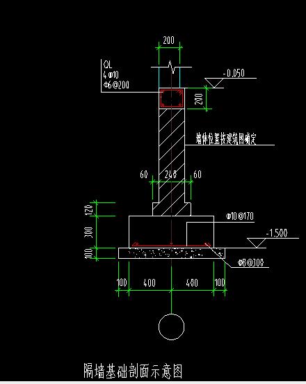 土建,河北,答疑:这种卫生间小隔墙还用布置隔墙基础吗?会不会太大-河北土建,