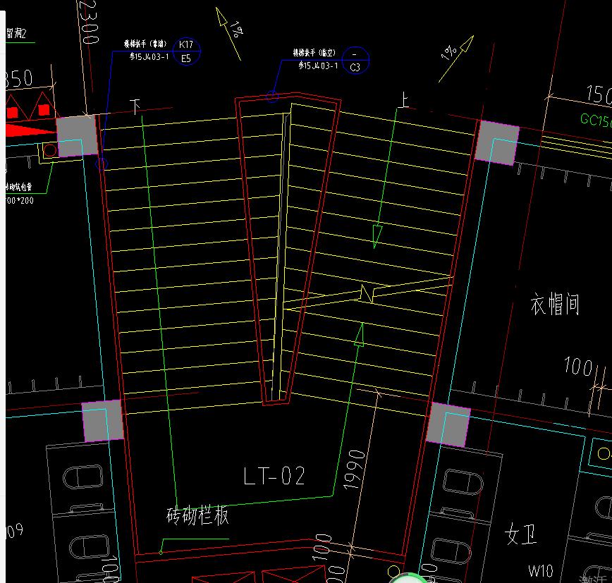 土建,土建算量GCL2013,广东,预算,答疑:请教楼梯起点和终点楼梯梯板宽度不用时如何绘制?-广东土建,预算,土建算量GCL2013,