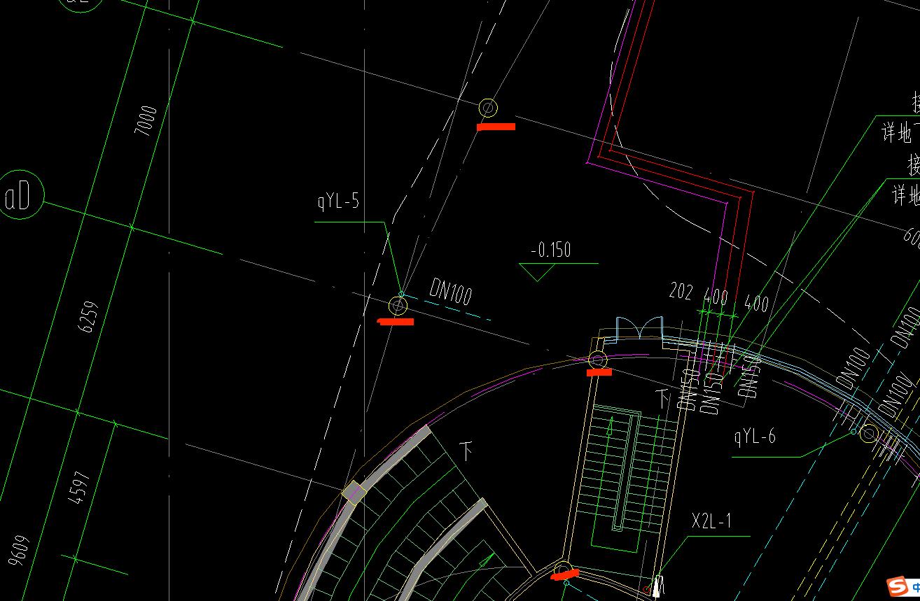 土建,安装,安装算量GQI,浙江,计价软件GCCP,设计,答疑:请教图中这个圆圈是什么?图例中没有,这个是给排水图纸 谢谢!-浙江土建,安装,设计,计价软件GCCP,安装算量GQI,