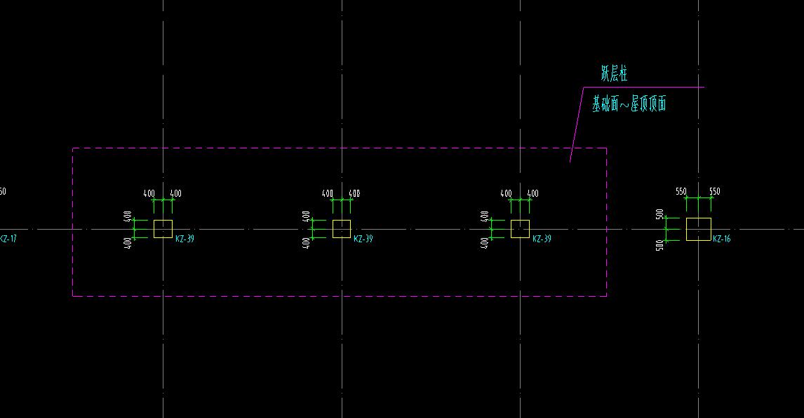 土建,福建,答疑:请教这粉色框中所指的跃层柱部分的柱如何绘制?-福建土建,