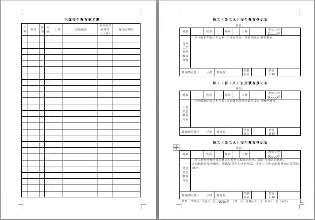 云南省,施工安全管理台账,水利工程,水利工程施工安全管理台账