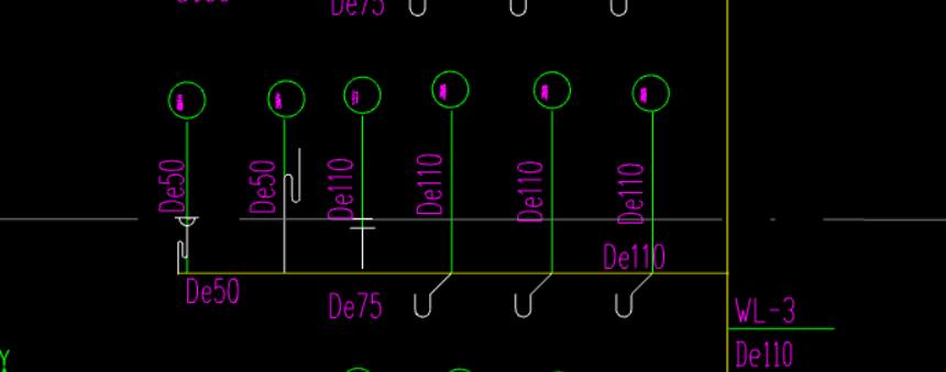 云南,安装算量GQI,水利,答疑:横管的具体到哪个位置,跪求大佬讲解-云南水利,安装算量GQI,