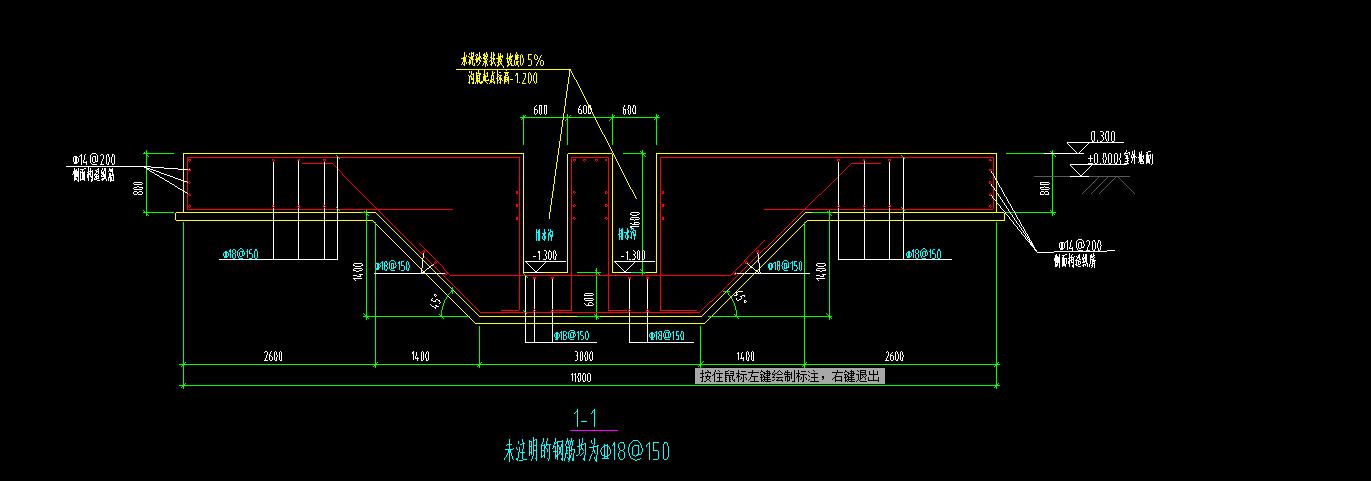 市政,广东,答疑:请教一下,这种筏板+地沟的形式,在软件上应该如何布置呀-广东市政,