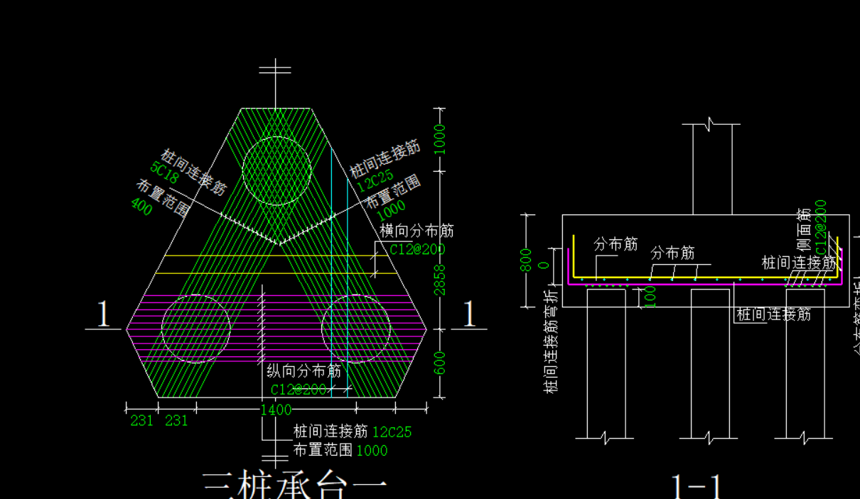 土建,湖南,答疑:三桩承台钢筋如何输入-湖南土建,